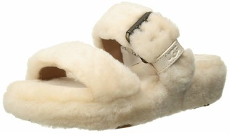 UGG Womens Fuzz Yeah Charcoal Slipper - 6