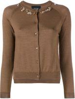 Simone Rocha Embellished Wool-Cashmere Cardigan