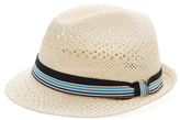 DeSanto Striped Bow Fedora