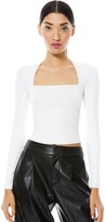 Thumbnail for your product : Alice + Olivia Ricarda Cut Out Crop Top