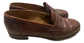 Loewe Slip On Loafer Brown Crocodile Flats