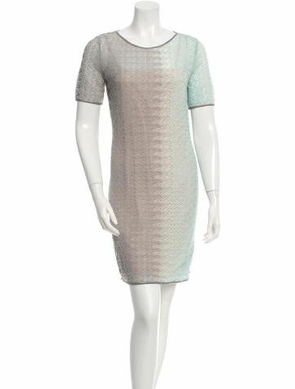 Missoni Knit Mini Dress Grey