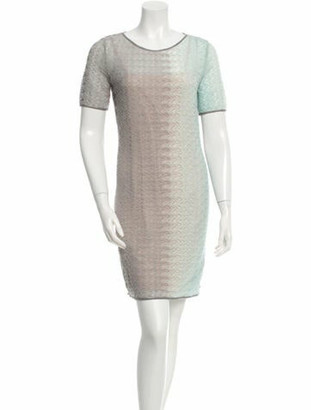 Missoni Knit Mini Dress Grey