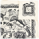 Gucci Take Out print scarf