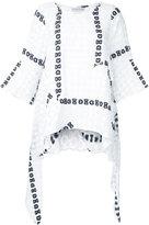 Tsumori Chisato bow embroidered blouse - women - Cotton - S