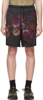 Dries Van Noten Black Floral Print Shorts