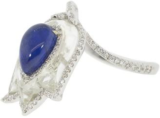SABOO FINE JEWELS Burma Sapphire and Diamond Tulip Ring