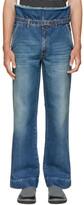 Maison Margiela Blue High-Rise Dungaroo Jeans