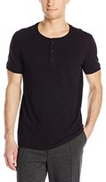 Vince Men's Favorite Slub Cotton Short Sleeve Henley