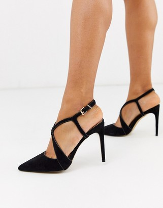 Carvela cross strap pointed court shoes