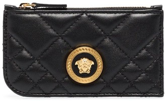 Versace Icon quilted leather card holder