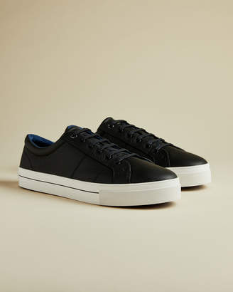 Ted Baker EPHRAN Leather plimsoll trainers