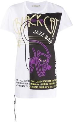Dorothee Schumacher jazz bar print longline T-shirt