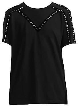 Maje Women's Tabloid Grommet T-Shirt
