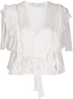 IRO Duvila ruffled blouse