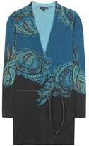 Etro Printed Wool And Cashmere Cardigan