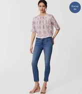 LOFT Curvy Skinny Crop Jeans in Bright Mid Indigo Wash
