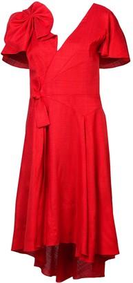 DELPOZO bow-embellished dress