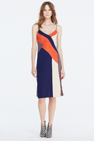 Diane von Furstenberg Frederica Colorblock Slip Dress