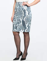 ELOQUII Printed Sequin Pencil Skirt