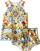Dolce & Gabbana Escape Maiolica Print Dress (Infant)