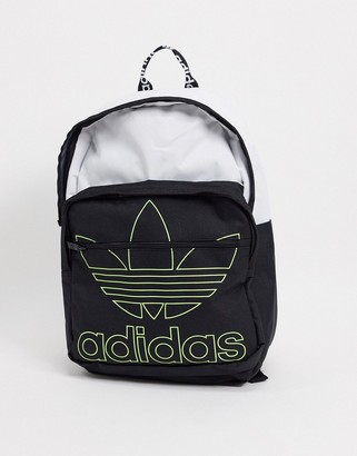 adidas backpack in white and black