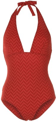 Eres Zigzag Pattern Low Back One Piece