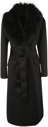 Prada Fur Collar Coat