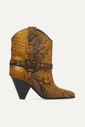 Isabel Marant Deane Snake-effect Leather Ankle Boots - Snake print