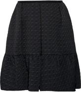 Erdem Levia houndstooth matelassé mini skirt