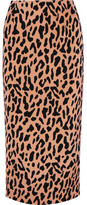Diane von Furstenberg Leopard-print Crepe De Chine Midi Skirt - Camel