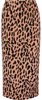 Diane von Furstenberg Leopard-print Crepe De Chine Midi Skirt