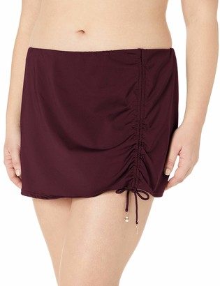 Anne Cole Women's Plus-Size Sarong Skirted Bikini Swim Bottom