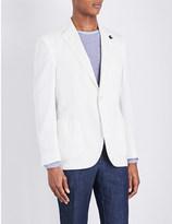 Lardini Regular-fit cotton and silk-blend jacket