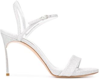 Casadei Blade glitter sandals