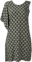 MSGM patterned asymmetric dress - women - Silk - 40