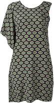 MSGM patterned asymmetric dress - women - Silk - 42
