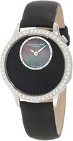 Stuhrling Original Women's 336.12151 Lifestyle Radiant Swiss Quartz Crystal Accented Dial Leather Strap Watch