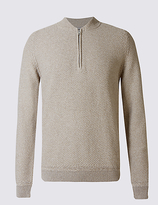 M&s Collection Pure Cotton Baseball Jumper