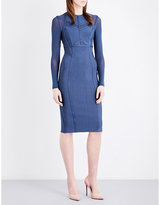 Topshop Panelled knitted dress