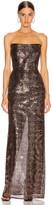 Mason by Michelle Mason Corset Gown in Shell | FWRD