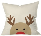 "DENY Designs Brown Animal Allyson Johnson Reindeer Throw Pillow (16""x16"