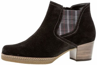 Comfort Basic Women's 36.661.37 Ankle Boot Schw(S.BRN/Karo/Mic) 3 UK Wide