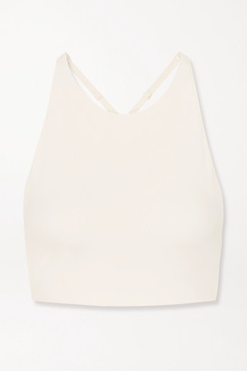 Girlfriend Collective Topanga Stretch Sports Bra - Ivory