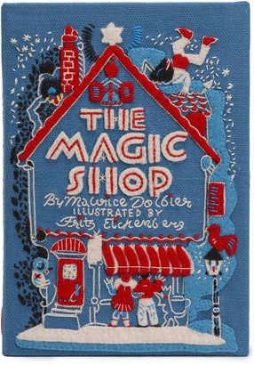Olympia Le-Tan Olympia Le Tan The Magic Shop Appliqued Embroidered Canvas Clutch