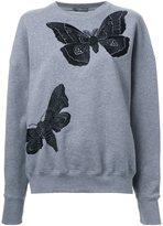 Alexander McQueen moth embroidered sweatshirt