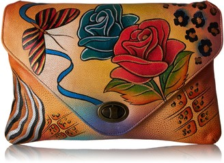 Anuschka Anna by Handpainted Leather Envelope Clutch