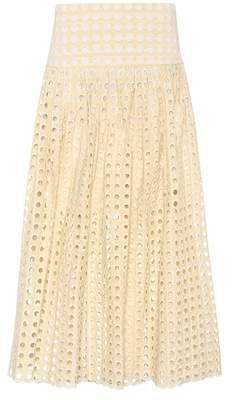 Chloé Embroidered eyelet skirt