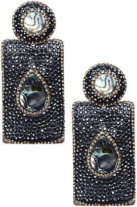 Eye Candy Los Angeles Eye Candy La Smoke Ether Green Abalone Shell Earrings