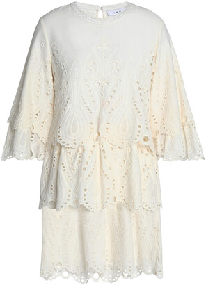 IRO Noor Tiered Broderie Anglaise Cotton Mini Dress